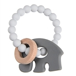 Chewbeads Baby Brooklyn Teether - Grey