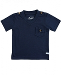 RuggedButts Navy V-Neck Pocket Tee