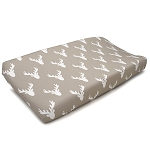 Liz and Roo Contoured Changing Pad Cover - Taupe Buck Woodland