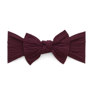 Bow Knot Headband  -  Burgundy