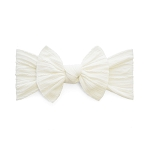 Cable Knit Bow Knot Headband - Ivory