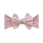 Cable Knit Bow Knot Headband - Mauve