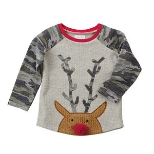 Mud Pie Camo Christmas Tee - Reindeer