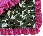 Little Yellow Chick - Hot Pink Camo Blanket