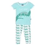 KicKee Pants Pajama Set - Natural Leopard