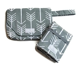 Diaper Clutch - Gray Arrow