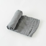 Little Unicorn Deluxe Swaddle - Charcoal