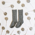 Knee High Socks - Pebble Grey