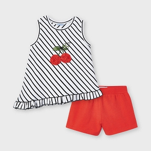 Mayoral Cherry Sleeveless Set