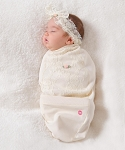 Ivory Blossoms & Lace Cocoon Set