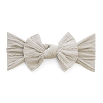 Cable Knit Bow Knot Headband - Taupe