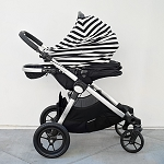 Covered Goods Multi-Use Cover - Classic Black & Ivory Stripe