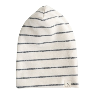 Woven Stripes Slouchy Hat