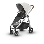 2017 UPPAbaby Cruz - Loic (White/Silver/Leather)