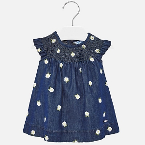 Denim Flower Dress