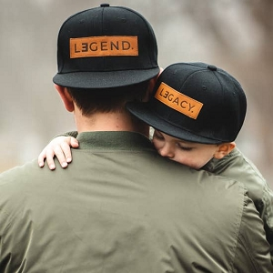 Legend Snapback Hat - Genuine Leather