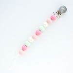 Lolli Pacifier Clip - Pink Mint