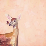 Canvas Art - Deer Dreams