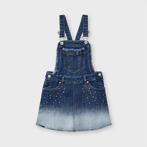 Mayoral Denim Skirted Overall Dress