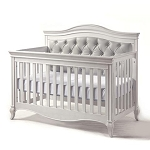 Pali Diamante Forever Crib - Vintage White with Gray Back