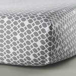Oilo Diamond Sateen Crib Sheet in Stone