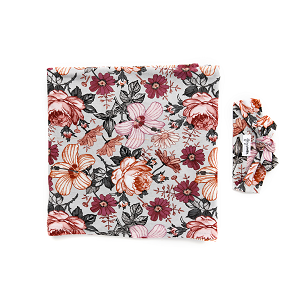 Ari Floral Swaddle & Headband