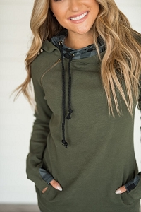 DoubleHood™ Sweatshirt - Evergreen Plaid