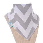 Grey Chevron Bandana Bib