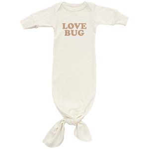 Love Bug - Long Sleeve Infant Tie Gown