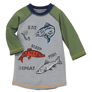 Mud Pie Eat Fish Sleep Rashguard
