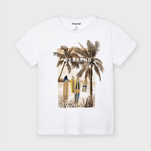 Mayoral Palm Tree White Tee