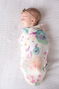 Knit Swaddle Blanket - Bloom