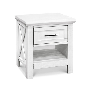 Franklin & Ben Emory Farmhouse Nightstand - Linen White (Boutique Exclusive!)