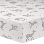 Liz and Roo Crib Sheet - Fawn Taupe