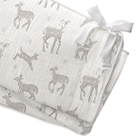 Liz and Roo Crib Rail Cover - Fawn Taupe