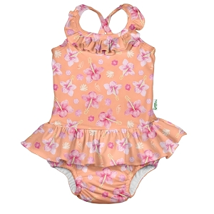 Ruffle Swimsuit w/Built-In Swim Diaper