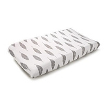 Liz and Roo Contoured Changing Pad Cover - Gray Feathers