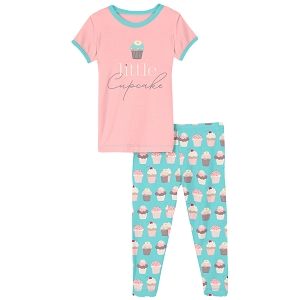 KicKee Pants Graphic Pajama Set - Summer Sky Cupcake