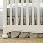 Liz and Roo Ruffled Crib Skirt - Flax Linen