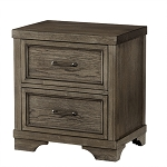 Foundry Nightstand - Brushed Pewter