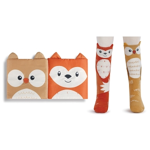 Fox & Owl Book & Sock Gift Set