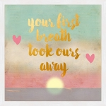 Metallic Framed Art - Your First Breath
