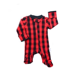 Zipper Footie - Buffalo Plaid