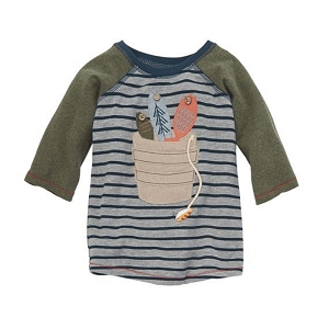 Mud Pie Gone Fishing Raglan Tee - Bucket