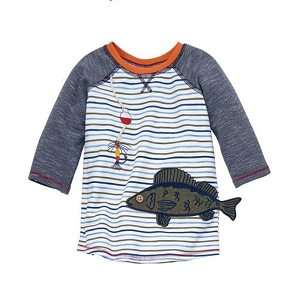 Mud Pie Gone Fishing Raglan Tee - Fish