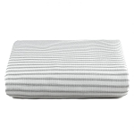 Liz and Roo Crib Sheet - Classic Grey Stripe