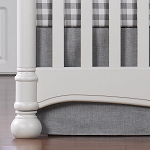 Liz and Roo Crib Skirt - Gray Crosshatch
