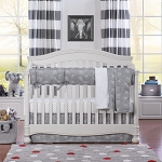 Liz and Roo Crib Bedding Set - Tribal Elephant
