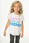 Chaser Happy Friday Friends Tee