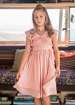Joyfolie Harlow Dress in Blush